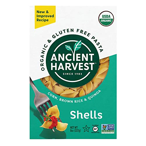 Ancient Harvest Gluten Free Supergrain Quinoa Pasta, Shells, Certified Organic, 8 oz