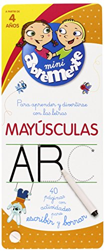 Mayúsculas. 40 Páginas Con Actividades Para Escribir Y Borrar (INFANTIL)
