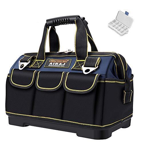 AIRAJ 45 × 25 × 29cm wasserdichte Werkzeugtasche,Mit ABS-Basis und verstellbarem...