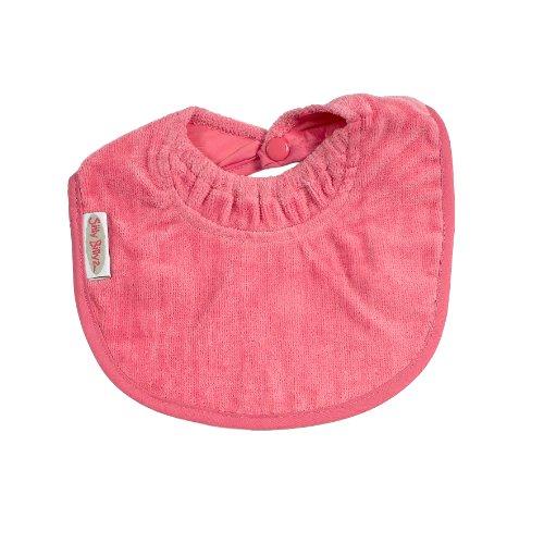 Silly billyz 12603 - Babero de algodón con cuello antiescapes (0 a 24 meses), color rosa