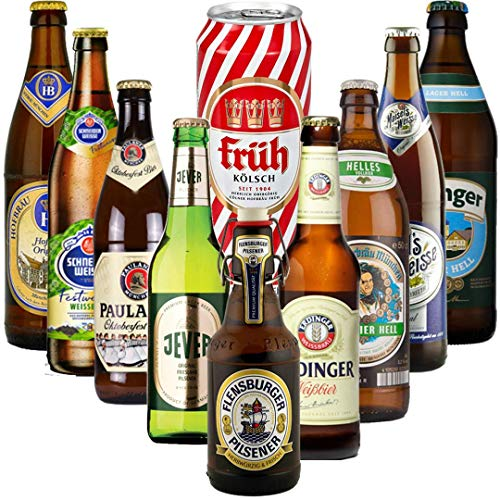 Oktoberfest German Craft Beer Mixed Case Gift Set With Erdinger Glass (10 Pack) - Perfect for Christmas