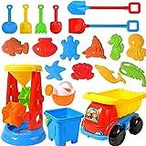 20PCS Sandspielzeug Set,Sandkasten-Eimer,Strand Spielzeug Sand Set,Strandspielzeug für Kleinkinder,Sandkasten-Spielzeug,Strandspielzeug Kinder,Sandkasten Spielzeug,Sanduhr und Muldenkipper