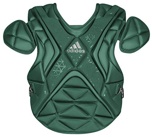 adidas Performance PRO Series Baseball Chest Protector, Dark Green/Silver, 16