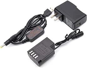 Mobile Power USB Charger Cable + DMW-DCC12 DMW BLF19E BLF19 Dummy Battery + Adapter for Lumix DMC-GH3 DMC-GH4 DMC-GH5