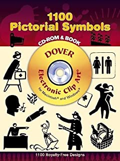 1100 Pictorial Symbols (Dover Electronic Clip Art) (CD-ROM and Book)