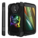 Untouchble Case for Motorola Moto G4 Play Case   [G4 Play]   G4 Case Case [Traveler Series] Combat Shockproof Dual Layer Hybrid Case with Kickstand - Space Cat