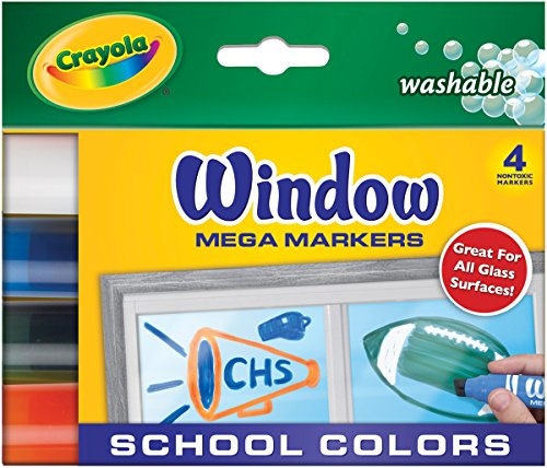 Crayola Washable Window Mega 4-Color Set Marker (58-8171)