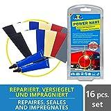 ATG Kit reparación Lonas Tienda de campaña automóviles Lonas Camiones Cubre-remolques de PVC | Pegamento reparación Tela toldo