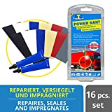 ATG | Planen Zelt Reparatur Set | Power-Naht | Extra Starker PU PVC Kleber | 8 PVC Flicken