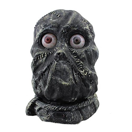 LUOEM Stone Ghost Decoration Control de la Voz Funny Scary Model with Battery Operated Estatua estatuilla para Halloween Drawing Sample and Home Decoration - Halloween Gifts