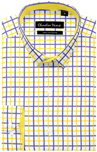 Charles Dino 100% Giza Cotton Mens Checkered Shirt for Casual wear