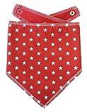 Spoilt Rotten Pets - Bandana para Perro (algodón), diseño de Estrellas, Color Rojo y Blanco