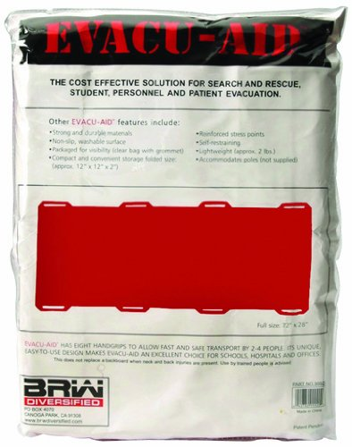 North by Honeywell 4499920 Evacu-Aid Stretcher-Folded, 12x16x2 - Open 72x27