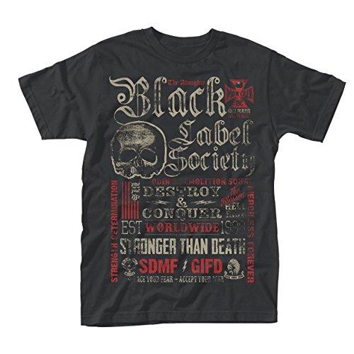 Black Label Society Destroy & Conquer Männer T-Shirt schwarz XL 100% Baumwolle Band-Merch, Bands