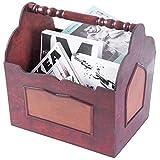 Dimensioni: ca. 34x 28x 35cm. Ottima idea di archiviazione Old fashioned hardware le dona un aspetto antico Portariviste in Polywood e pelle sintetica