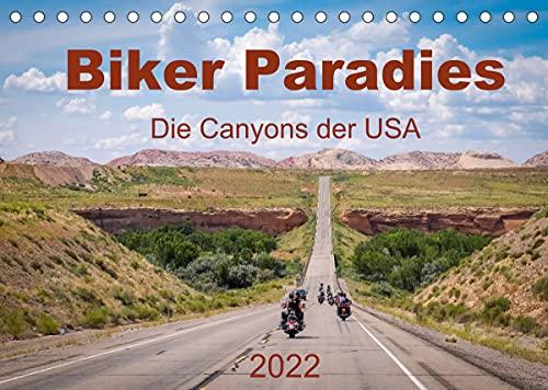 Biker Paradies - Die Canyons der USA (Tischkalender 2022 DIN A5 quer)