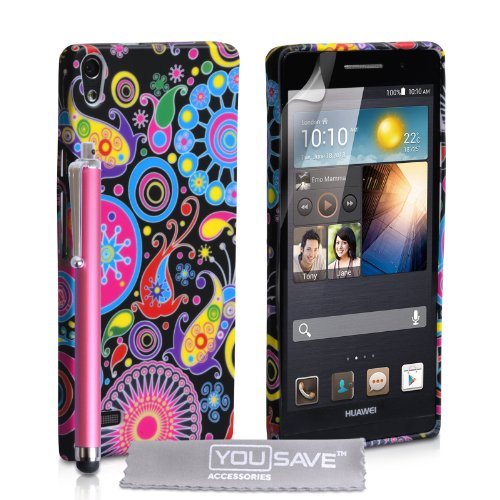 Kompatibel Für Huawei Ascend P6 Tasche Mehrfarbig Silikon Gel Qualle Hülle Mit Handgriffel Stift