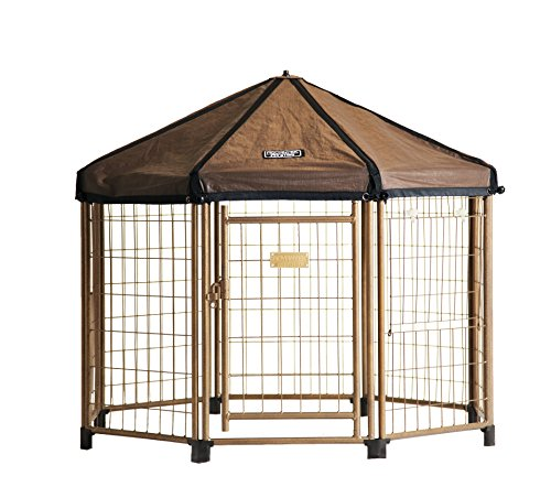 Advantek Pet Gazebo Reversible Replacement Cover - Brown/White, 3 Foot