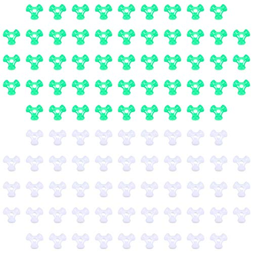 EXCEART 2000pcs Tri Shaped Beads Plastic Bracelet Beads DIY Handmade Beads for Bracelets Jewelry Making Party DIY Supplies (Green White)