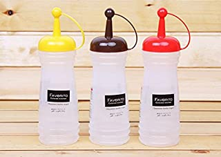 omeny 340ml de aceite salsa de condimentos Ketchup Mostaza Squeeze botella (color al azar)