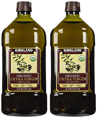 Kirkland Signature sdfgsfd Organic Extra Virgin Olive Oil, 2 Liters - 4 Bottles