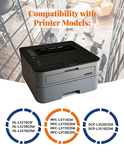 Jhaan TN247 TN243 Cartuchos de Tóner Compatible para Brother TN-247 TN-243 para DCP-L3550CDW MFC-L3750CDW MFC-L3710CW MFC-L3730CDN DCP-L3510CDW HL-L3210CW HL-L3230CDW HL-L3270CDW