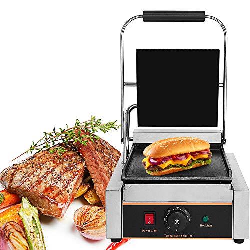 Minus One Contact Grill Sandwichmaker Sandwichtoaster, 1800 W Sandwich-Maker met temperatuurregeling, met uitneembare opvangbak en hittebestendige handgrepen