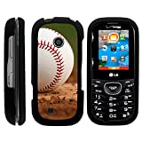 Compatible with LG Cosmos 2 Case VN251 | LG Cosmos 3 Case VN251S [Slim Duo] Compact Fit Hard Snap On Case Slim Cover on Black Sports and Games by TurtleArmor - Baseball Dirt