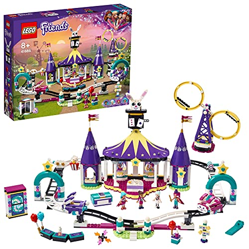 LEGO 41685 Friends Mundo de Magia: Montaña Rusa, Parque de Atracciones de Juguete para Niños y Niñas +8 Años con Mini Muñecas