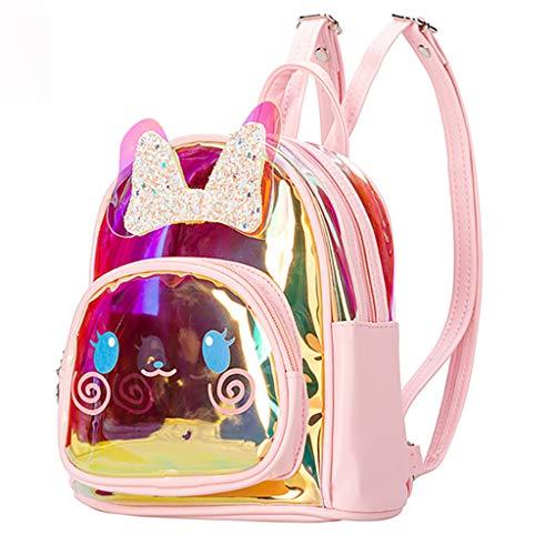 Kinderrucksäcke Kinder Schultaschen für Mädchen Rucksack Pailletten Lässige Tagesrucksäcke für Kleinkinder Kleine Mädchen Kinderzimmer Kaninchen-Muster