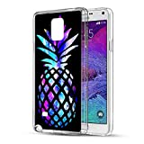 Note 4 Case Pineapple,Gifun [Anti-Slide] and [Drop Protection] Soft TPU Premium Flexible Protective Case for Samsung Galaxy Note 4 - Brightly Colored Marble Pineapples