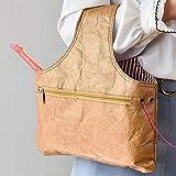 TOP-MAX 35 x 30,5 cm, bolsa de ganchillo para ganchillo y punto de cruz, bolsa de nailon para tejer agujas e hilo.