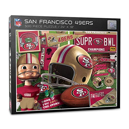 NFL Retro Series Puzzle 500 Pieces San Francisco 49ers Football