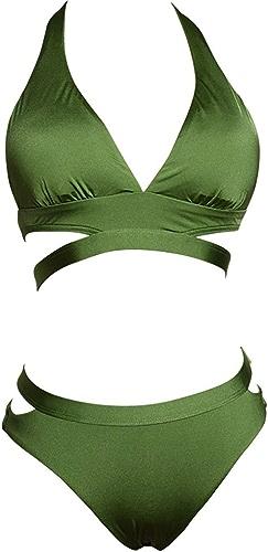 LFY Bikini Vert, Maillot de Bain Vacances balnéaire pour Les Les dames (Taille   S)