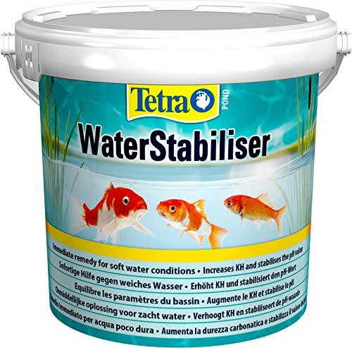 Tetra Pond WaterStabiliser (stabilisert wichtige Wasserwerte, optimiert den KH- und pH-Wert im Gartenteich, beugt weichem Teichwasser vor, Eimer) 1,2 kg