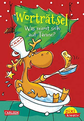 Pixi kreativ 67: Worträtsel: Was reimt sich auf Tanne?: Lustiger Weihnachts-Rätselblock (67)