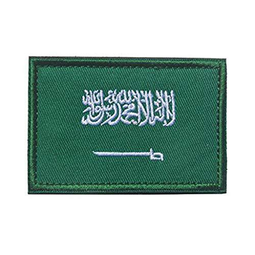 ShowPlus Militärischer Aufnäher, bestickt, Motiv: Flagge von Saudi-Arabien, Schulterapplikation