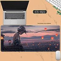 素敵なマウスパッド特大アイスプリンセスゴーストナイフ風チャイムプリンセスアニメーション肥厚ロック男性と女性のキーボードパッドノートブックオフィスコンピュータのデスクマット、Size :400 * 900 * 3ミリメートル-CS-021