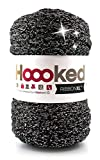 Trapillo pluma Ribbon XL Hoooked Lurex black sparkle
