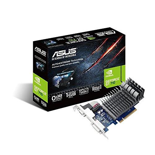 ASUS GT 710 1GB DDR3 64Bit Dual Slot, Passive Low Profile Graphics Cards 710-1-SL-BRK