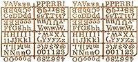 フェルトボード 文字&数字 246カラット ローズゴールド – 極小ケース 大文字 3/4インチ プラスチック メタリック アルファベットデコレーションセット メモ メッセージ メニュー 挨拶 ストーリーボード(ローズゴールド)