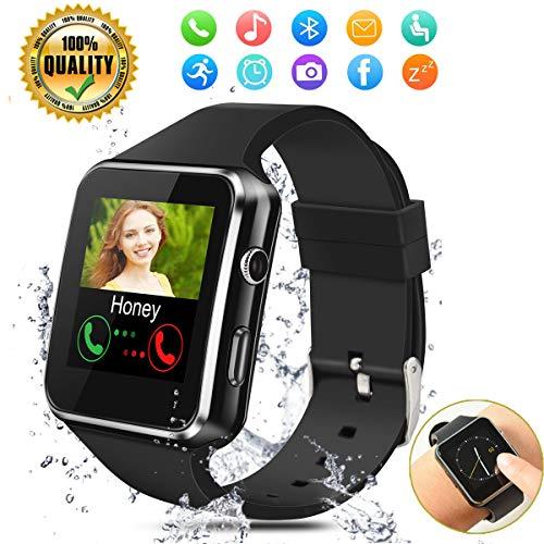 Orologi Intelligenti,Bluetooth Smartwatch,Sport Smart Orologio con Slot per scheda SIM TF Orologio Intelligente per Donna Uomo Bambino,Sleep Detection,Activity Tracker Smartwatch per Android e iOS