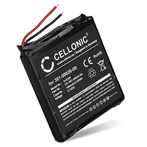 CELLONIC Batería de Repuesto 361-00026-00 Compatible con smartwatch Garmin Forerunner 205, Forerunner 305, 700mAh 361-00026-00 Accu Battery Pack