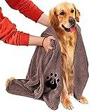 NLUJGYAV Dog Towel Super Absorbent Large Microfiber Embroidered Fast Dry Soft Dog Drying...
