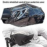 Funda para reposabrazos de silla de ruedas, Power Wheelchair Arm Joystick Funda protectora impermeable con correa mágica ajustable, protector de panel de control para silla de ruedas eléctrica