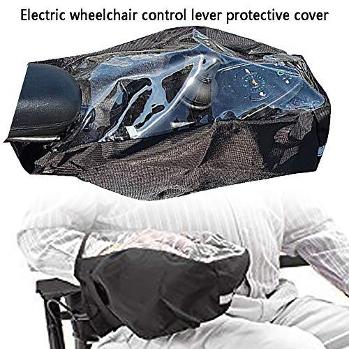 Rollstuhl-Armlehnen-Abdeckung, Power Rollstuhl-Arm, Joystick, wasserdichte Schutzhülle mit verstellbarem Magic Strap, elektrische Rollstuhl-Bedienfeld-Schutz