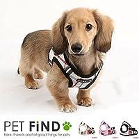 犬 胴輪 ハーネス PUPPIA(パピア) ペット ペットグッズ 犬用品 胴輪 ハーネス 小型 中型 犬用ソフトベスト チェック柄 かわいい 可愛い ハーネス XS/S/M/Lサイズ ドッグ用品 pama-ah978 XS,PINK