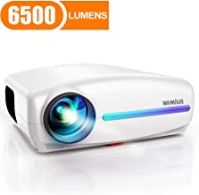 Projector, WiMiUS Native 1080P Projector 6500 Lumens Led Video Projector Support 4K HD..