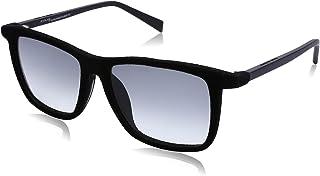 نظارة شمس بعدسات شبه مربعة متدرجة اللون وشنبر قطيفة للنساء من ايطاليا انديبندنت - رمادي