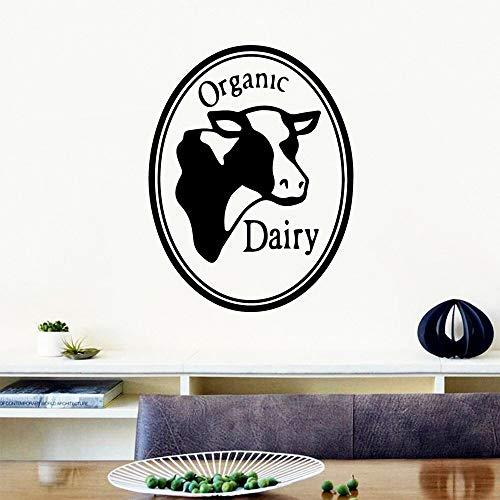 Tianpengyuanshuai Bio Milchprodukte Wandaufkleber zitieren Vinyl Aufkleber Kinderzimmer abnehmbare Wandbild 84X85cm
